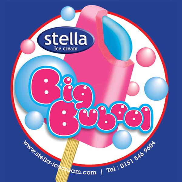 Strawberry flavour ice/Bubblegum flavour centre. 80ml / 24 per carton