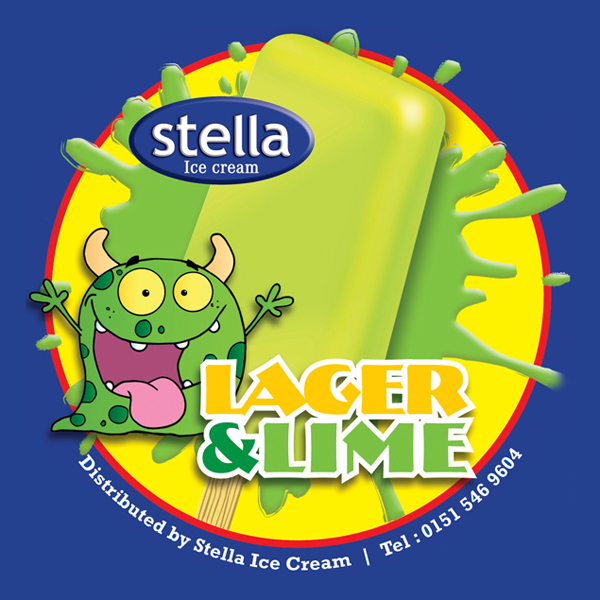 Lager and lime flavour ice lolly. Size 80ml. 36 per carton.