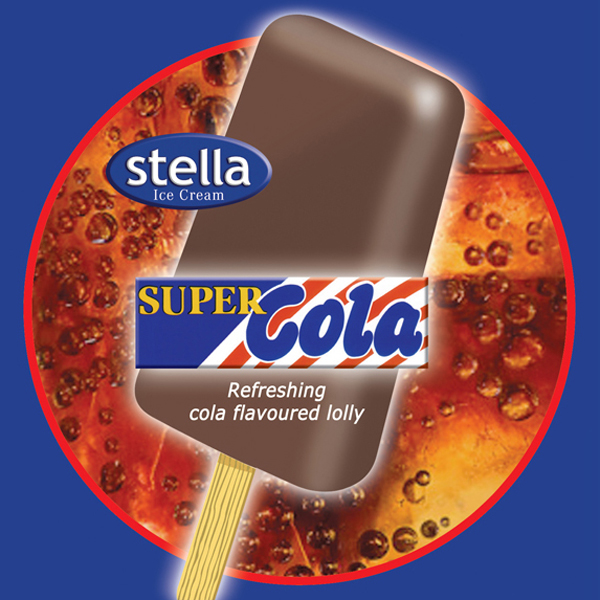 Cola flavoured ice lolly. Size 80ml. 36 per carton.